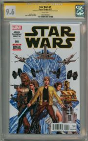 Star Wars #1 First Print (2015) CGC 9.6 Signature Series Signed Stan Lee Marvel comic book